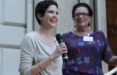 Alexandra Zerykier, Presidente JCC insieme all'Ambasciatore di Svezia, Ruth Jacoby