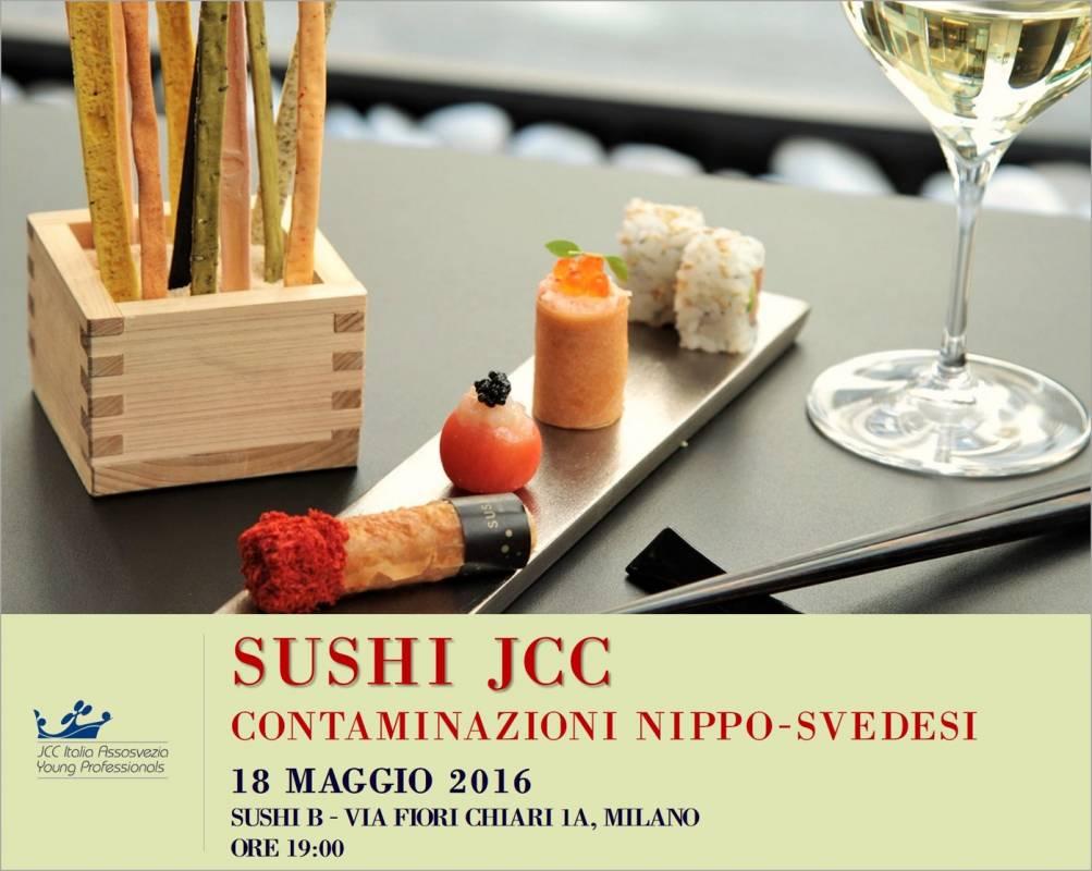 Sushi giappo svedese JCC Assosvezia evento 18 maggio 2016