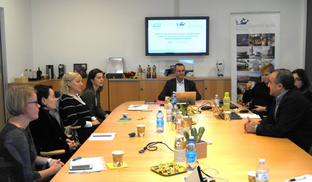 HR meeting innovazione organizzativa assosvezia volvo kinnarps alfa laval sandvik regione lombardia asl bergamo camera commercio italo svedese
