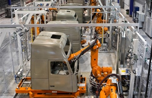 rassegna stampa svedese assosvezia volvo trucks automazione software industriale Umeå closed loop manufacturing digital twin gemello