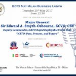 bcci british chamber of commerce business lunch Major General Sir Edward A. Smyth-Osbourne 25 maggio 2017