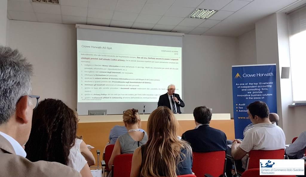 seminario eventi camera di commercio italo svedese assosvezia privacy cybersecurity crowe horwath 5 luglio 2017