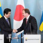 rassegna stampa svedese assosvezia Shinzo Abe primo ministro giapponese stoccolma Stefan Löfven industria aziende relazioni commerciali